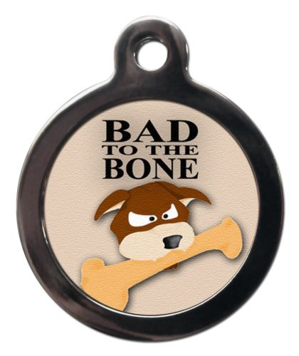 Pet ID Tag Bad to the Bone